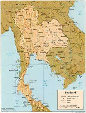 [Map of Thailand]